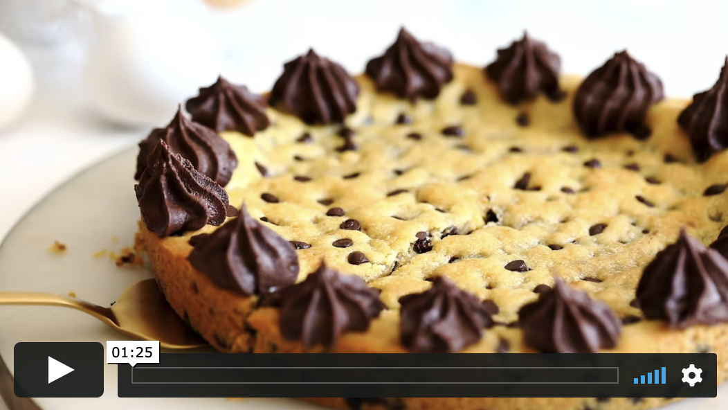 Chocolate chip cookie skillet cake
